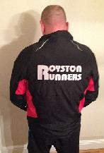 The Royston Runners team jacket (back)
